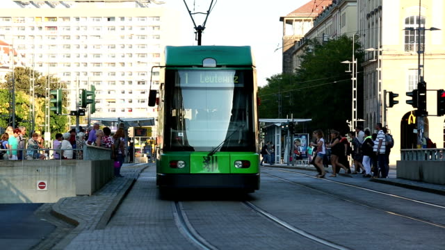 dresden with tram - hofkirche stock videos & royalty-free footage