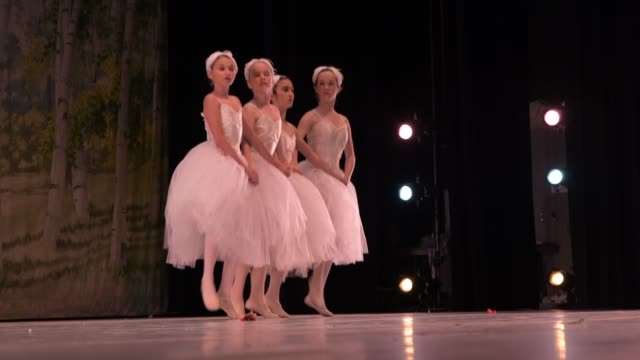 dress rehearsal 2019 spring gala at the dickinson theatre at piedmont community college charlottesville va - ballet dancer stock videos & royalty-free footage