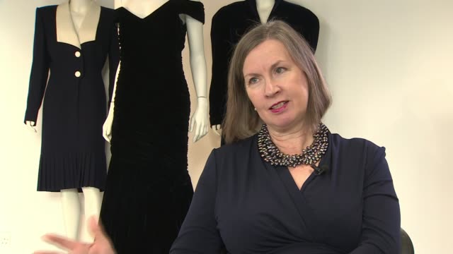 dress worn by princess of wales during dance with john travolta up for auction again; england: london: int kerry taylor interview sot various of blue... - dress stock videos & royalty-free footage