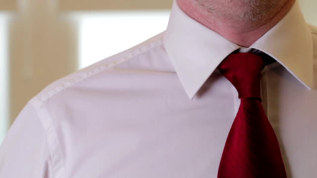 dressing for business jacket and tie - shirt and tie stock videos & royalty-free footage