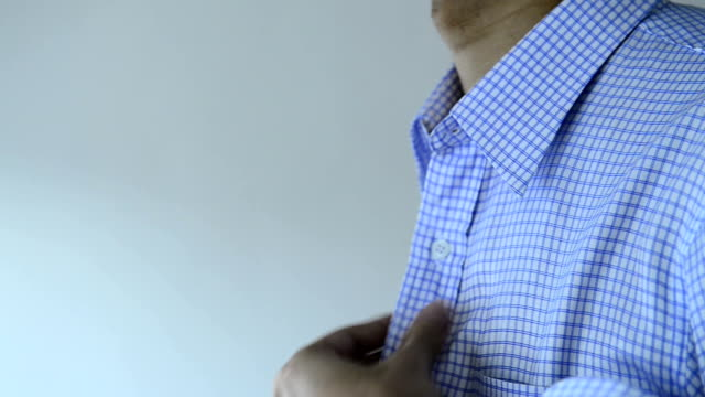 dressing for shirt and tie - shirt and tie stock videos & royalty-free footage