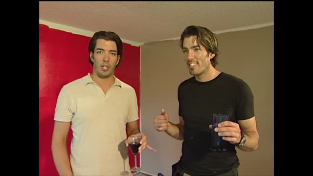 drew and jonathan scott poke fun at how the other works - home showcase interior stock videos & royalty-free footage