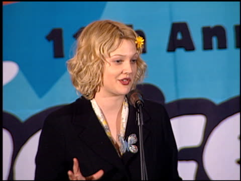 Drew Barrymore at the 1998 Nickelodeon Kids' Choice Awards at UCLA in Westwood California on April 4 1998