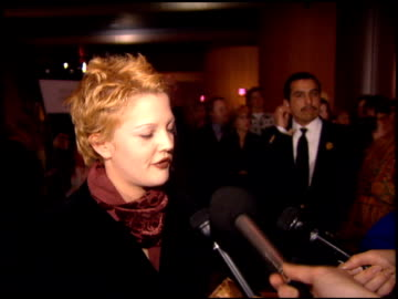drew barrymore at the 'boys on the side' premiere at dga theater in los angeles, california on february 1, 1995. - 1995 stock videos & royalty-free footage