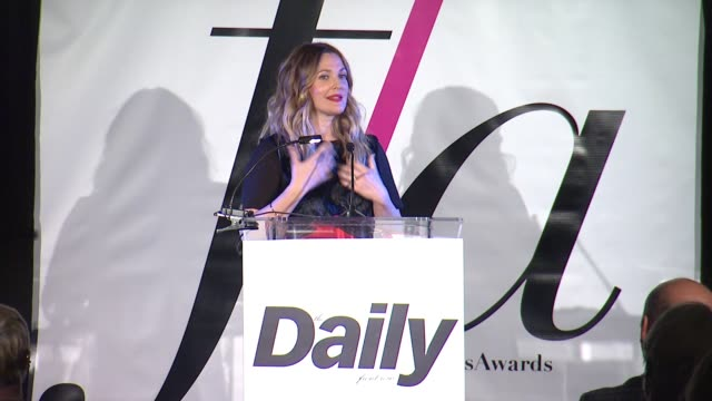 SPEECH Drew Barrymore at The Daily Front Row Presents First Annual Fashion Los Angeles Awards in Los Angeles CA