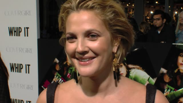 Drew Barrymore on why she chose this film as her directorial debut immersing herself in roller derby injuries at the 'Whip It' Premiere at Hollywood...
