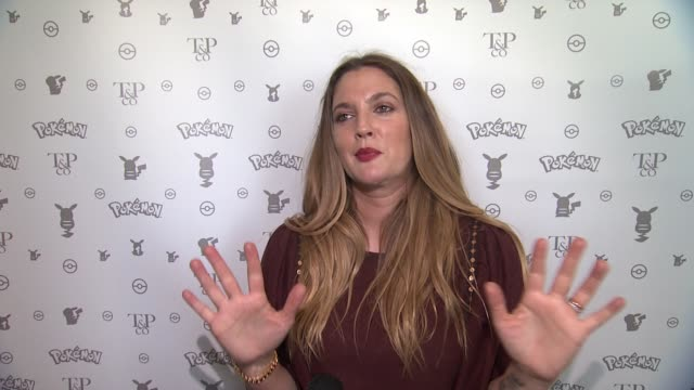 INTERVIEW Drew Barrymore on working with this joyful brand at Pokemon Afternoon Soireeat Sunset Tower Hotel on February 27 2016 in West Hollywood...