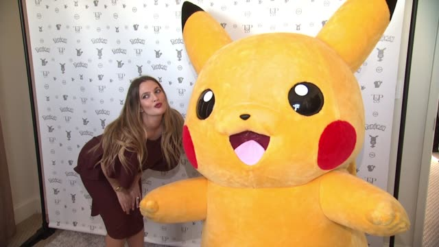 Drew Barrymore Pikachu at Pokemon Afternoon Soiree at Sunset Tower Hotel on February 27 2016 in West Hollywood California