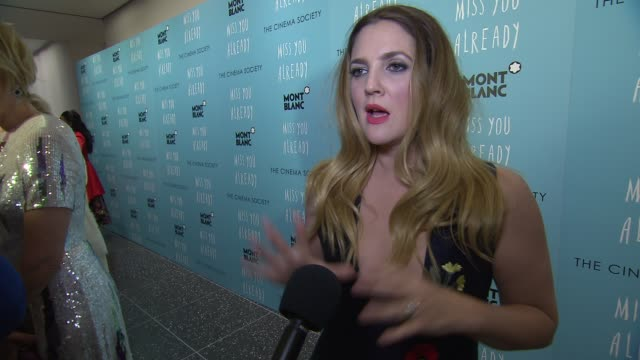 INTERVIEW Drew Barrymore talks about the subject matter of the film and lifelong friendships at Miss You Already New York Premiere at Museum of...