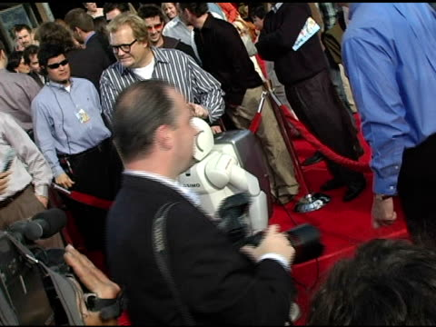 drew carey and asimo robot at the 'robots' world premiere at the mann village theatre in westwood california on march 6 2005 - asimo stock videos & royalty-free footage