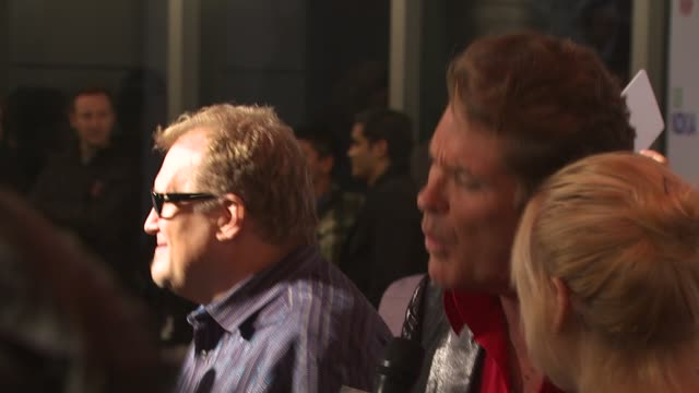 Drew Carey David Hasselhoff at the 'The Peewee Herman Show' Opening Night at Los Angeles CA