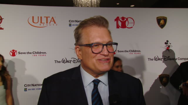 interview drew carey on the event at the save the children's centennial celebration once in a lifetime in los angeles ca - save the children stock videos & royalty-free footage