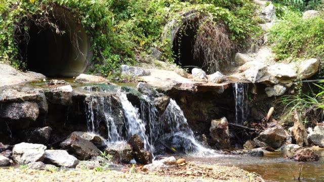 vidéos et rushes de 4k drian l'eau à la rivière. - bonde