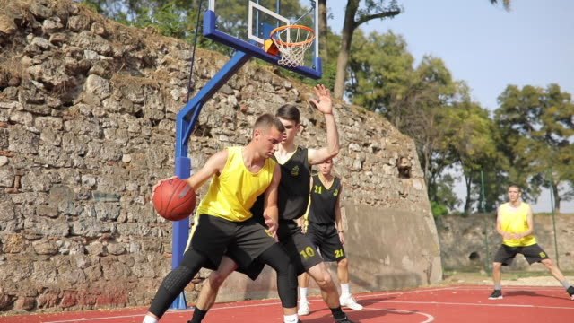 dribbling and scoring - shooting baskets stock videos & royalty-free footage