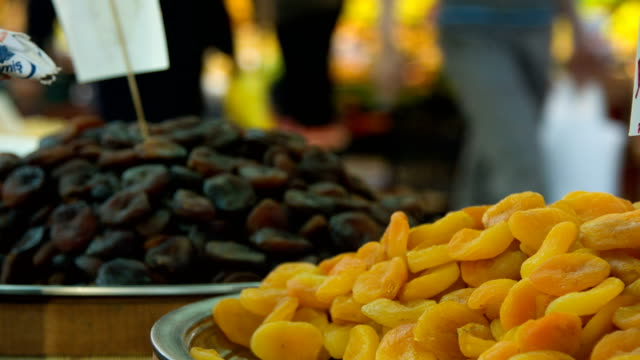 dried apricots - dried food stock videos & royalty-free footage