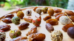 dried fruit , date fruit , date ball with cereal