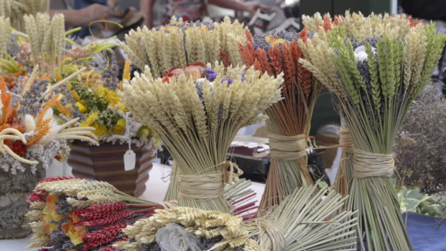 dried grain arrangement on street market - apt stock videos and b-roll footage