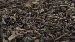 Dried herbal tea leaves close up. Macro