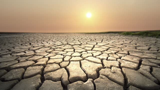dried lake bed, sun, california - drought stock videos and b-roll footage