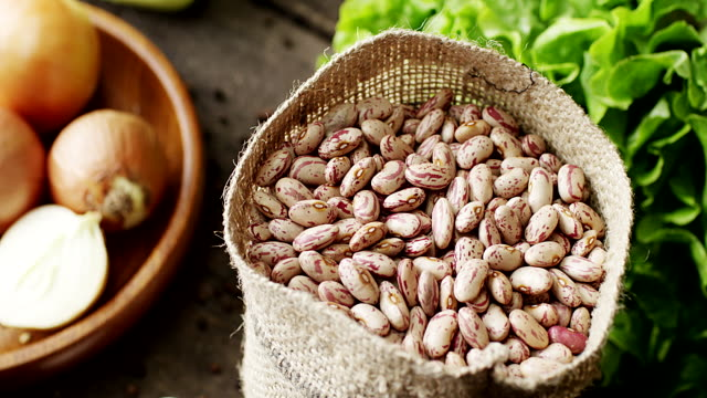 dried pinto beans - pinto bean stock videos and b-roll footage