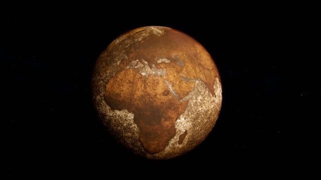 dried planet earth sunrise. the greenhouse effect - climate change stock videos & royalty-free footage
