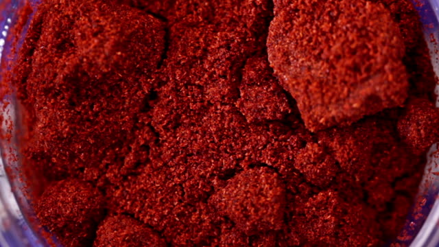 Dried red ground paprika