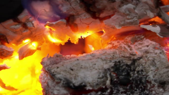 cu dried wood burning on fire - wood material stock videos & royalty-free footage