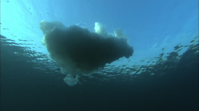 drift ice and blue sky in hokkaido - iceberg ice formation stock videos & royalty-free footage