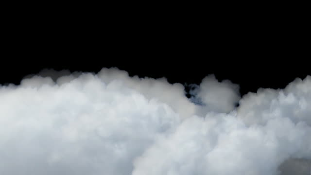 drifting clouds on black sky variation - moving past stock videos & royalty-free footage