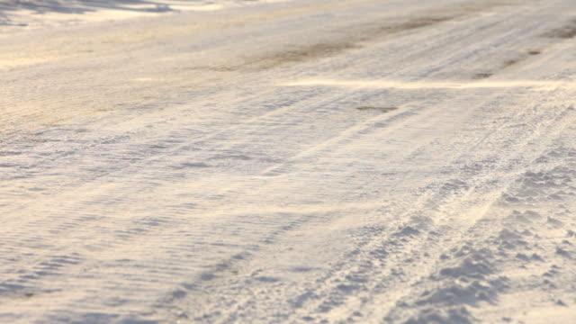 vidéos et rushes de drifting la neige - neige fraîche