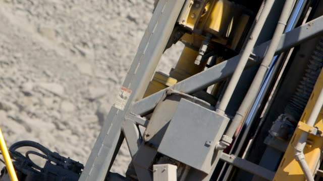 drilling rig at coal mine close up - dump truck stock videos and b-roll footage