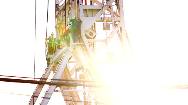 drilling rig at sunset - iraq stock videos & royalty-free footage