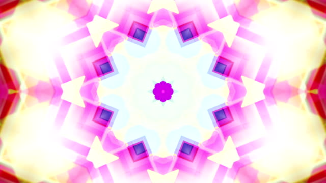 drimlike psychedelic kaleidoscope  loopable video background footage in neon colors - kaleidoscope stock videos and b-roll footage