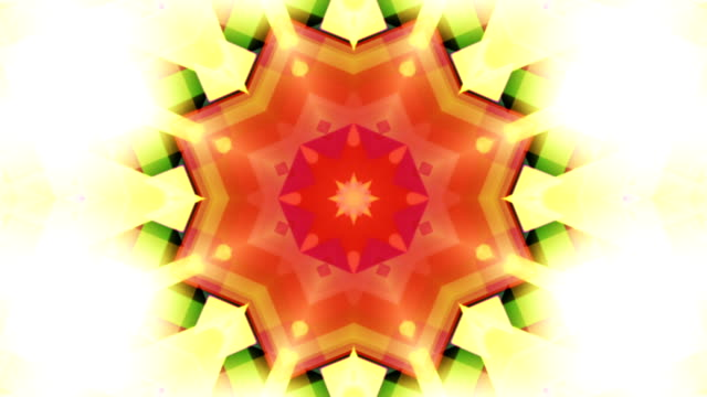 Drimlike psychedelic kaleidoscope  loopable video background footage in neon colors