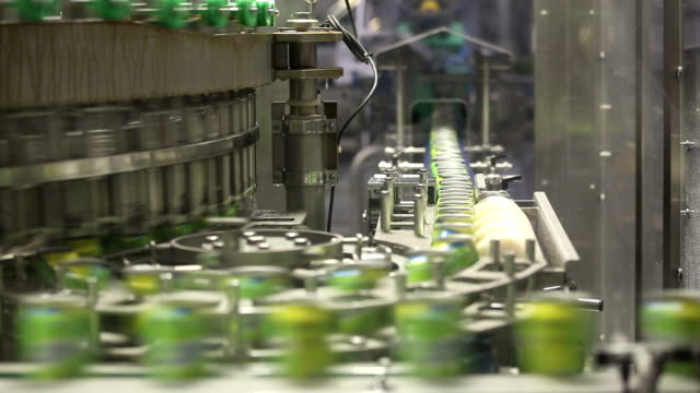 drink cans on the production lines - production line stock videos & royalty-free footage