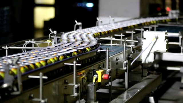 drink cans on the production lines - bottling plant stock videos and b-roll footage