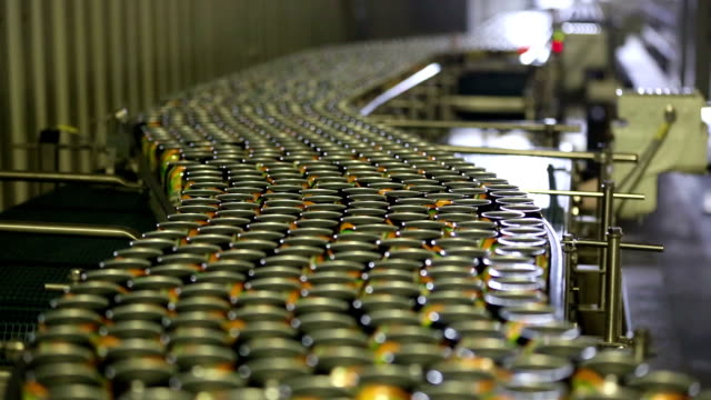 drink cans on the production lines - canning stock videos & royalty-free footage