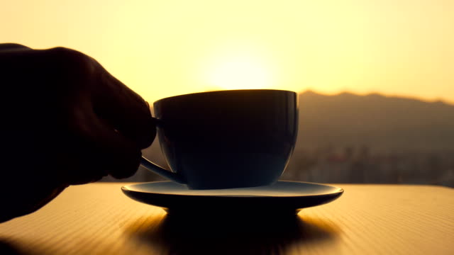 drinking a cup of coffee - italian culture stock videos & royalty-free footage