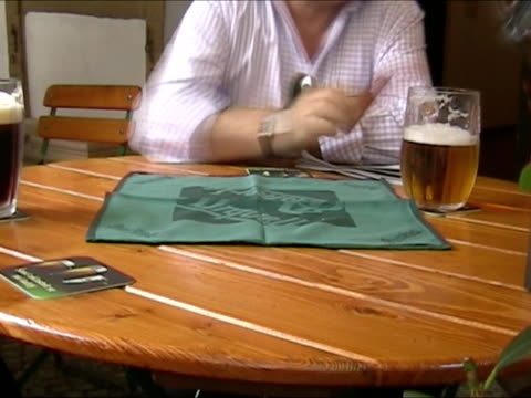 drinking beer: cheers! - czech republic stock videos & royalty-free footage