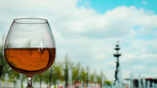 drinking brandy in the city - brandy snifter stock videos and b-roll footage