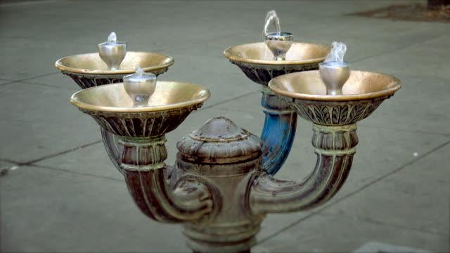 drinking fountain in portland, oregon - fountain stock videos & royalty-free footage