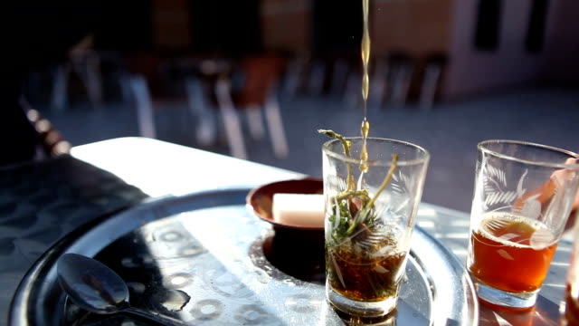 drinking mint tea - mint leaf culinary stock videos and b-roll footage