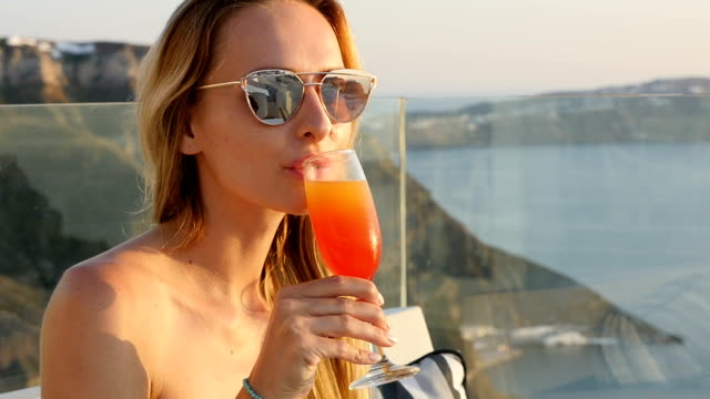 drinking tropical drink - tropical cocktail stock videos & royalty-free footage