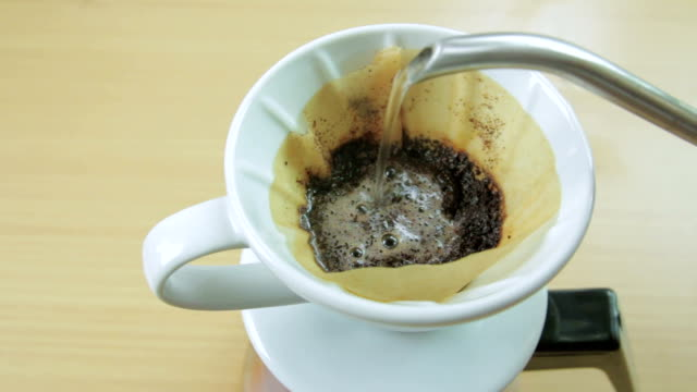 drip coffee - pour spout stock videos & royalty-free footage
