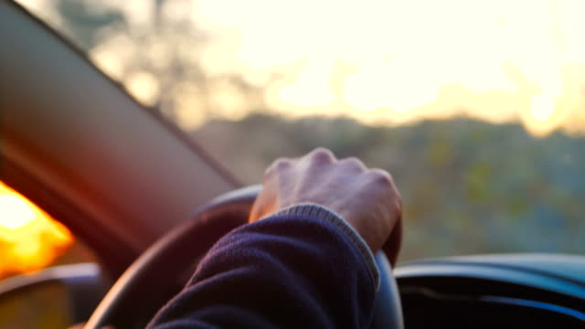 drive a car close-up - steering wheel stock videos & royalty-free footage