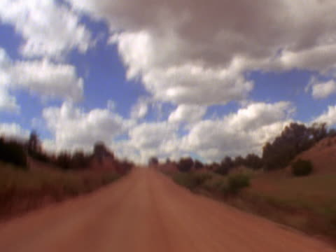 drive along (fairly) flat dirt road - mpeg video format stock videos & royalty-free footage