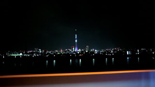 Drive by the river in Tokyo