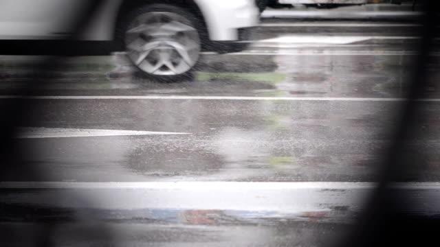 Drive in regnerischen Tag
