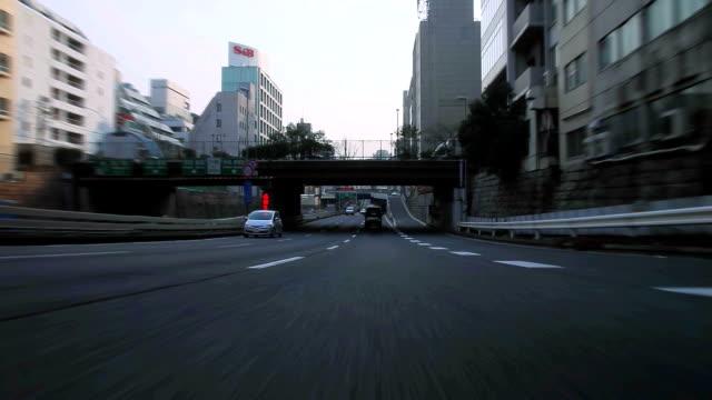 Rijden in Tokyo-uitzicht achterzijde