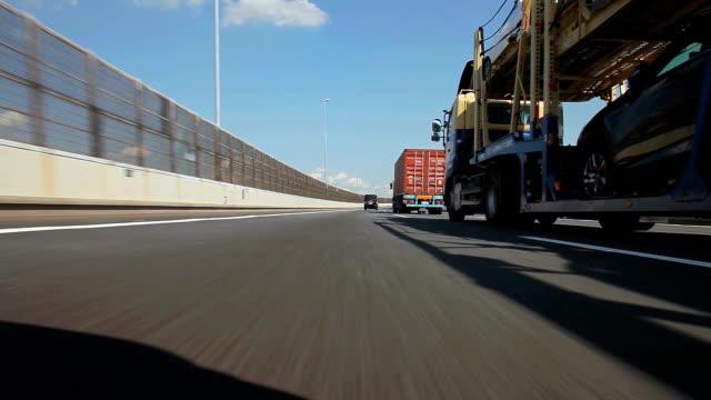 drive on bay bridge in yokohama - yokohama stock videos and b-roll footage